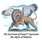 The lion beast of Daniel 7 represents the empire of Babylon